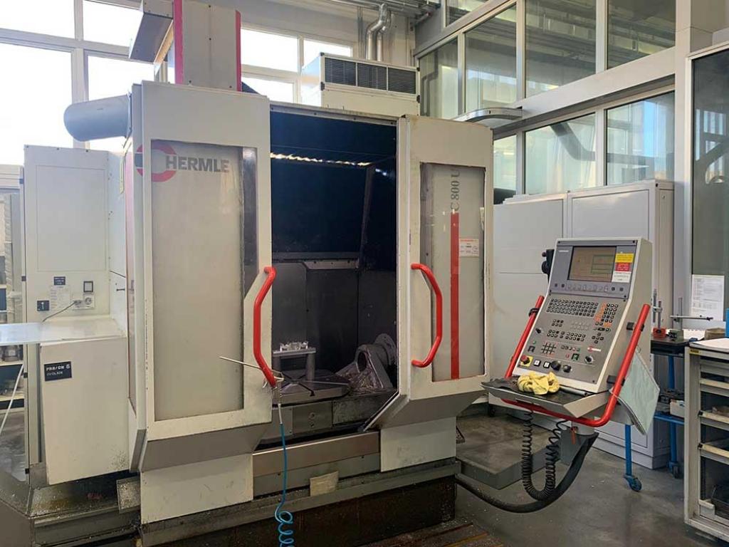 Centro di lavoro a 5 assi Hermle C 800 U - Foto integrale macchina
