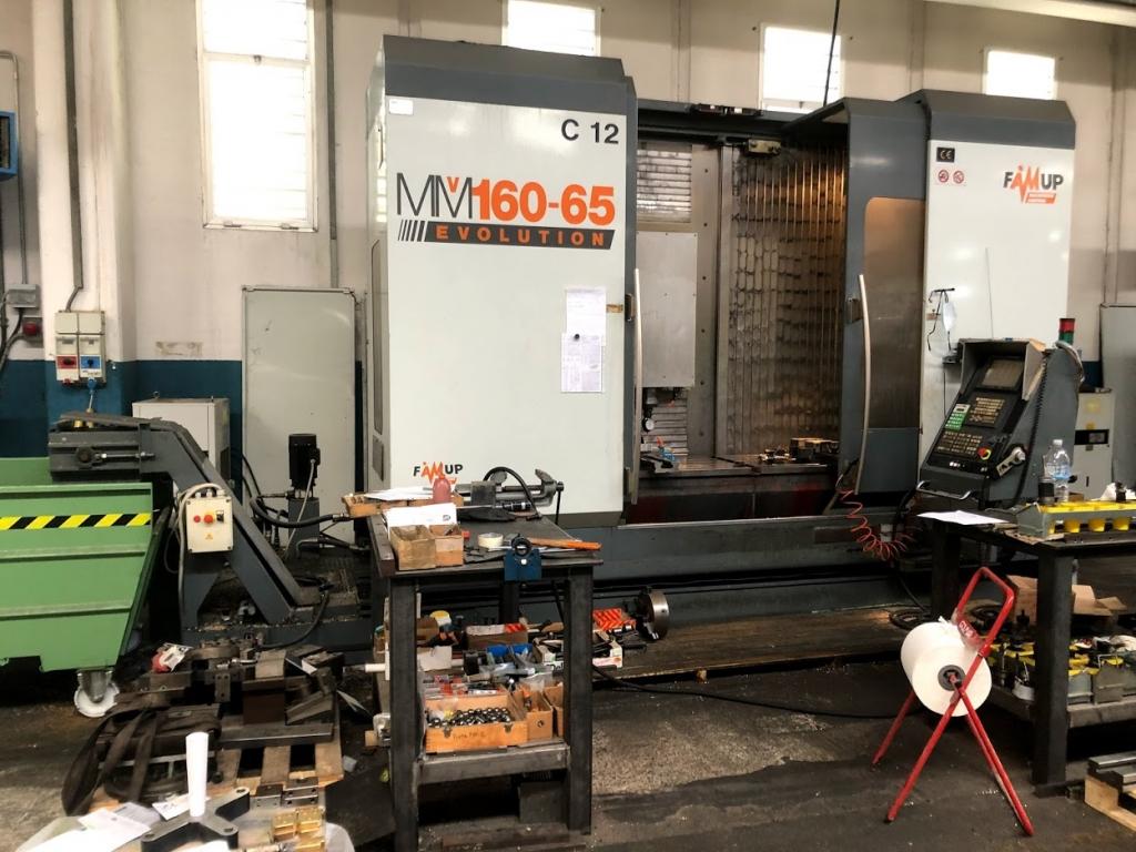 Centro di lavoro a montante mobile FAMUP MMV 160 - 65 - Foto integrale macchina