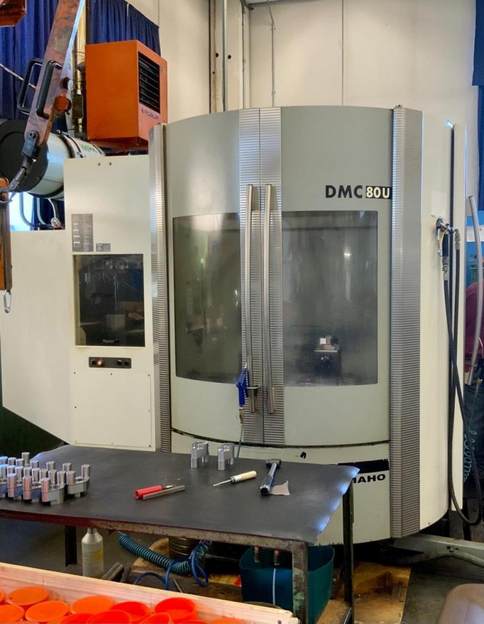 Centro di lavoro  DMC80 U HI-DYN - Foto integrale macchina