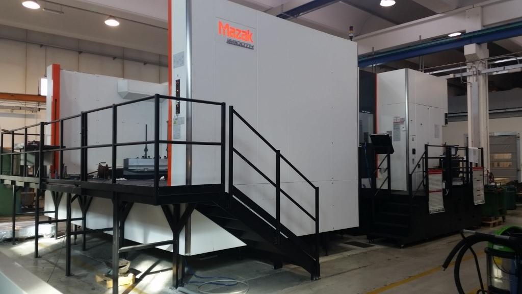 CENTRO DI LAVORO ORIZZONTALE MAZAK HCN12800 SMOOTH G - Foto integrale macchina
