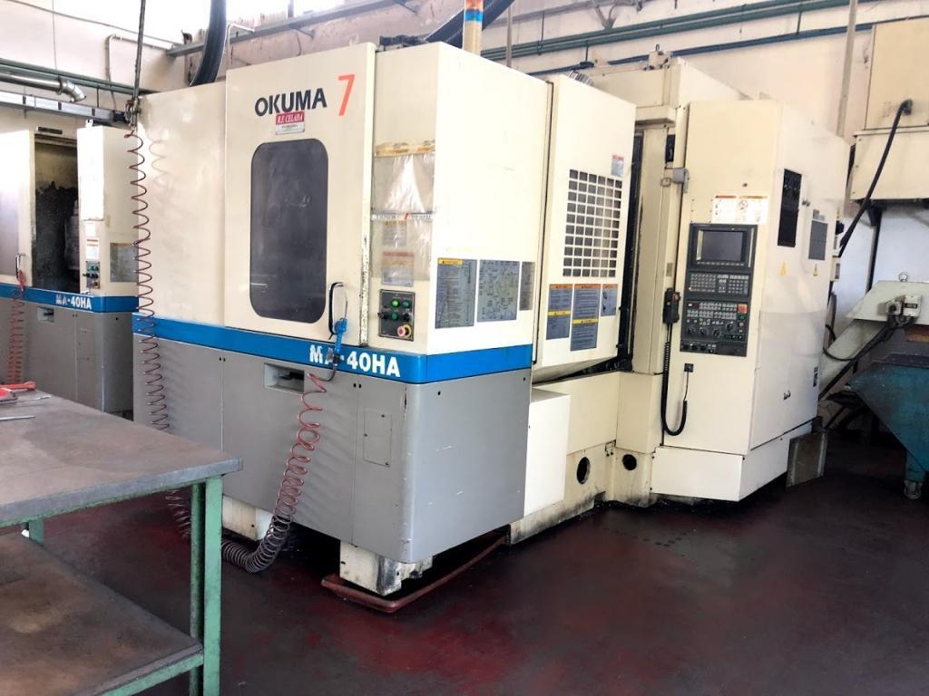Centro di lavoro orizzontale Okuma MA 40 HA - Foto integrale macchina