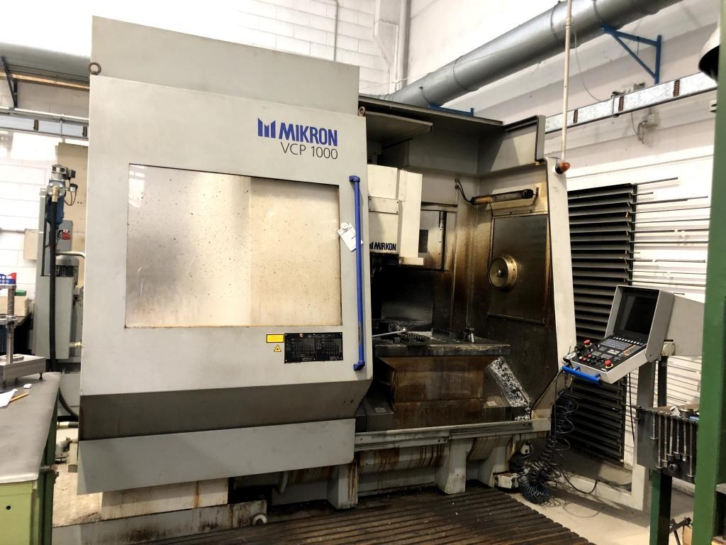 Centro di lavoro verticale Mikron VCP 1000 - Foto integrale macchina