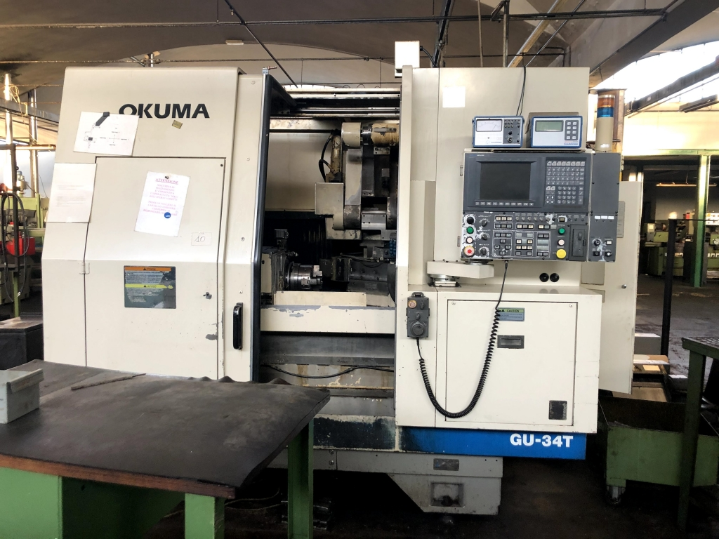 Rettifica interni esterni Okuma GU 34T - Foto integrale macchina