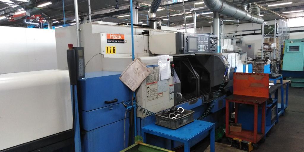TORNIO CNC ORIZZONTALE TESTA FISSA MAZAK MULTIPLEX 6200Y - Foto integrale macchina
