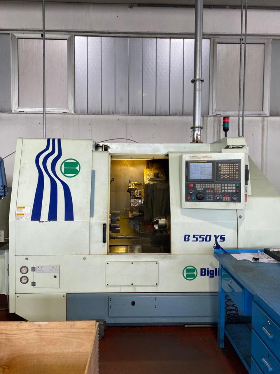 Tornio da barra Biglia B550 YS - Foto integrale macchina