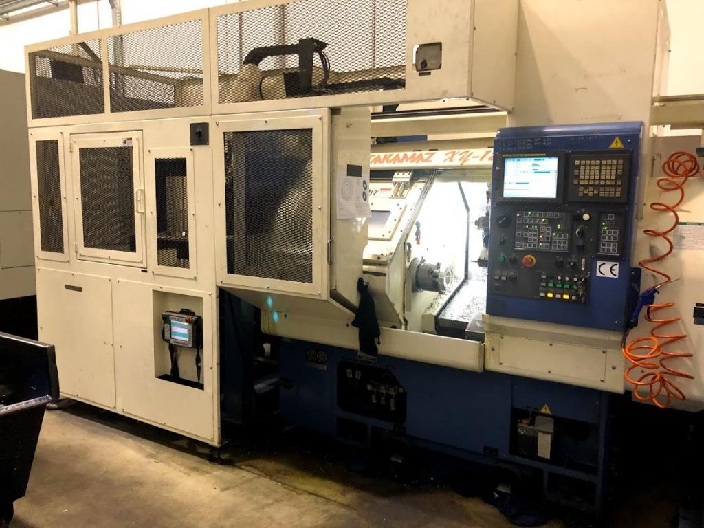 Tornio orizzontale CNC con gantry loader TAKAMAZ XY 120 - Foto integrale macchina